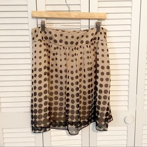 The Limited Skirts - The Limited Brown and Tan Polka Dot skirt 8